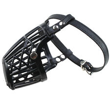 "7""-13"" Ultra Dog No Bite Muzzle Comfortable soft Plastic PU Mesh Basket Black"