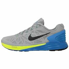 Nike Lunarglide 6 Grey Blue 2014 Mens Jogging Running Shoes Lunarlon Trainer