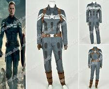 Captain America II 2: The Winter Soldier Cosplay Costume Suit Whole Set New Ver