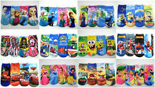 4xPairs Kids Cartoon Socks Disney Frozen Princess Elsa Anna Pixar Car 4-12 Years