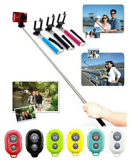 Monopod Extendable & Wireless Bluetooth Remote Shutter for Iphone Android HTC