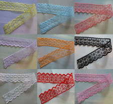 Wholesale 10-200yards embroidery lace ribbon colors can be selected 14Color