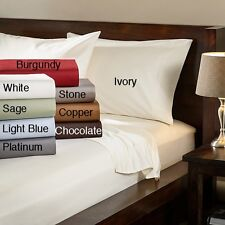 "1000TC EGYPTIAN COTTON 15""DEEPPOCKET 1PC FITTED SHEET& 2PC PILLOWCASE ALL SIZES"