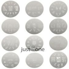 NEW Designable Nail Art Image Stamp Stamping Plates Manicure Template 1x Series