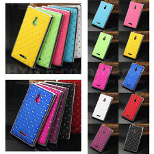 2014 New Bonzer Prevail Style Bling Diamond Hard Case Cove Skin For Nokia XL