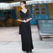 Black Formal Maternity Long Prom Party Maxi Dress Baby Shower Dress for New Mom