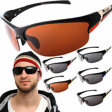 X-Loop Polarized Half Rim Sunglasses Mens Sports Wrap Cycling Fishing Glasses