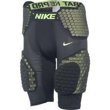 Nike Pro Combat Hyperstrong Mens Compression Five Pad Football Shorts Black/Neon
