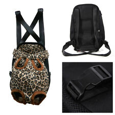 Leopard Pattern Pet Dog Puppy Carrier Backpack Front Net Carrying Case Bag Pouch
