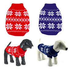 Dog Pet Sweater Clothes Snowflake Puppy Knit Coat Outwear Apparel Small to Large