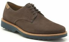 MENS CLARKS DARK BROWN NUBUCK EXTRALIGHT SMART CASUAL LACE UP SHOES FULHAM WALK