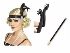 1920's Flapper Great Gatsby Fancy Dress Accessories Headband cig holder Necklace