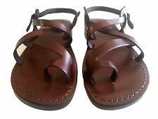 Leather Sandals Jesus Shoes Biblical Men's Gladiator Flats ✰US 6-12 / EU 39-46✰