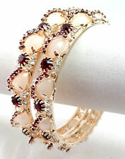 Indian Bollywood Fashion Costume jewelry bangle CZ gold plated bracelet 7062