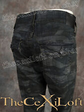 NWT! Mens TRUE RELIGION Jeans Slim GENO in TIGER CAMO Wash MECE08NJW7