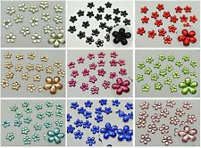 500 Flatback Acrylic Faceted Flower Rhinestone Gems 8mm Pick Your Color