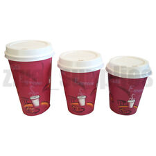 Coffee/Tea Cups & Sip Lids-10oz,12oz,16oz  Disposable Paper Catering Hot Drinks