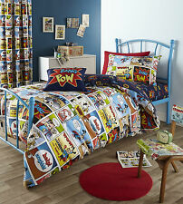 Catherine Lansfield Comic Strip Duvet Set and Optional Accessories