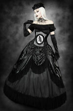 Restyle Queen of the Night Skirt with Petticoat Skirt Black Goth Elegant