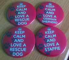 LARGE FRIDGE MAGNET - KEEP CALM LOVE A DOG (ANY Breed) Rescue dog lover gift