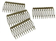 Silver Metal Hair Combs with Teeth for hair accessories Pack of 12 PC. in 3 size