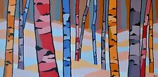 Birch Forest - Canvas Print by Canadian Artist Jonathan Munz