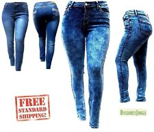 NEW 1826 2632 Stretch denim jeans HIGH WAIST WOMENS PLUS SIZE PANTS SKINNY LEG