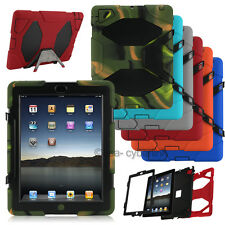 Heavy Duty Shockproof Hybrid Military Stand Hard Case Cover For iPad mini .A