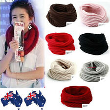 FASHION WOMEN WARM KNIT NECK CIRCLE WOOL SNOOD SCARF WRAP