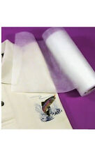 """No-Show Poly-Mesh Plus Machine Embroidery Stabilizer Backing Cut Away 12"""" Roll"""