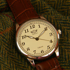 Eriksen Mans Vintage Retro Leather Strap Round Classic Mens Analogue Wrist Watch