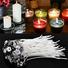 CANDLE WICKS Pretabbed 8-inch ZINC CORE Lots of 20 to 200PCS Candle Making