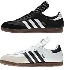 Men's Adidas Samba Classic Black or White Low Profile Indoor Soccer Shoe Sz 6-14