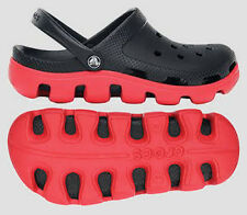 Crocs Duet Sport Clog Black Red  Size Men 6 / Women 8,  Men 7 / Women 9