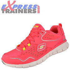 Skechers Womens Synergy Sport Memory Foam Fitness Gym Trainers Pink *AUTHENTIC*