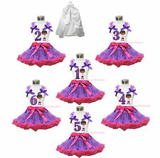 Doctor McStuffin Birthday 1ST 2ND 3RD 4TH 5TH 6TH No. Top Skirt Outfit Set 1-8Y