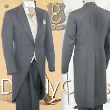 Men's worsted wool mid grey wedding morning suit trousers only - TGMST001