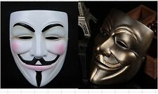 New V For Vendetta Resin mask Occupy Wall Street Guy Fawkes Cosplay Prop B2