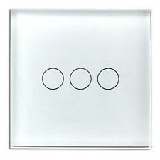 LIVOLO AC100~250Volt 1/2/3 Gang Home Touch Wall Light Switch Crystal Glass Panel