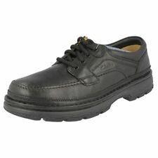 CLARKS 'Space Step' Men's Black Leather Lace Up Shoes. Work/Casual/Formal Wear