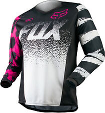 2015 Fox Racing Kids Girls Peewee MX ATV Offroad Motocross 180 Jersey Black/Pink