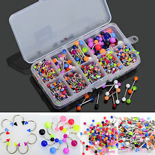 Lot 90PCS Body Jewelry Piercing Eyebrow Navel Belly Tongue Lip Bar Ring 9 Style
