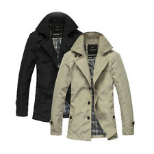 Cool Men's Casual Jacket Slim Fit Outwear Coat Parka Windbreaker Overcoat