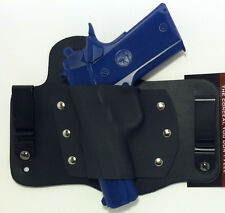 Leather Kydex Hybrid Holster Colt 1911 Conceal  BLACK IWB Concealment