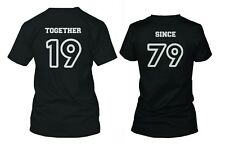 Custom Couple Shirts - Together Since - Personalized Matching Couple Shirts