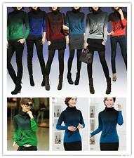 BUUS  Gradient Turtleneck Rendering High Collar Pullover Knit Cashmere Sweaters