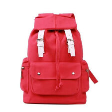 Vintage Travel Canvas Backpack Rucksack Satchel School Bookbag Bag 4 Color