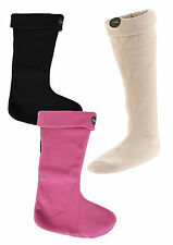 LE CHAMEAU IRIS POLAIRE WELLY SOCK - BLACK PINK BEIGE - FLEECE
