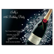 Personalised BIRTHDAY PARTY Invites 18th 21st 30th 40th 50th 60th Hen Party
