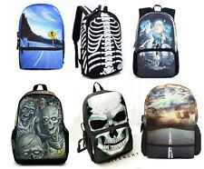 Fashion personality 3D print School Book Bag Laptop bag travel Backpack Rucksack